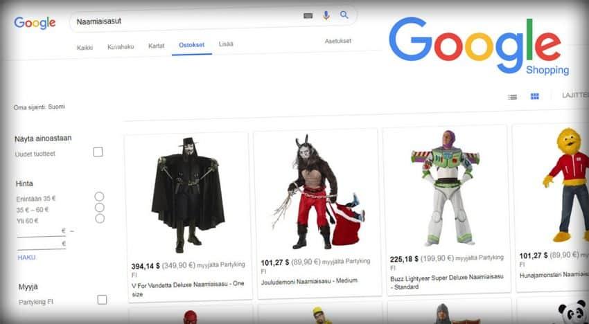 Svenska e-handlare live med Google Shopping i Finland