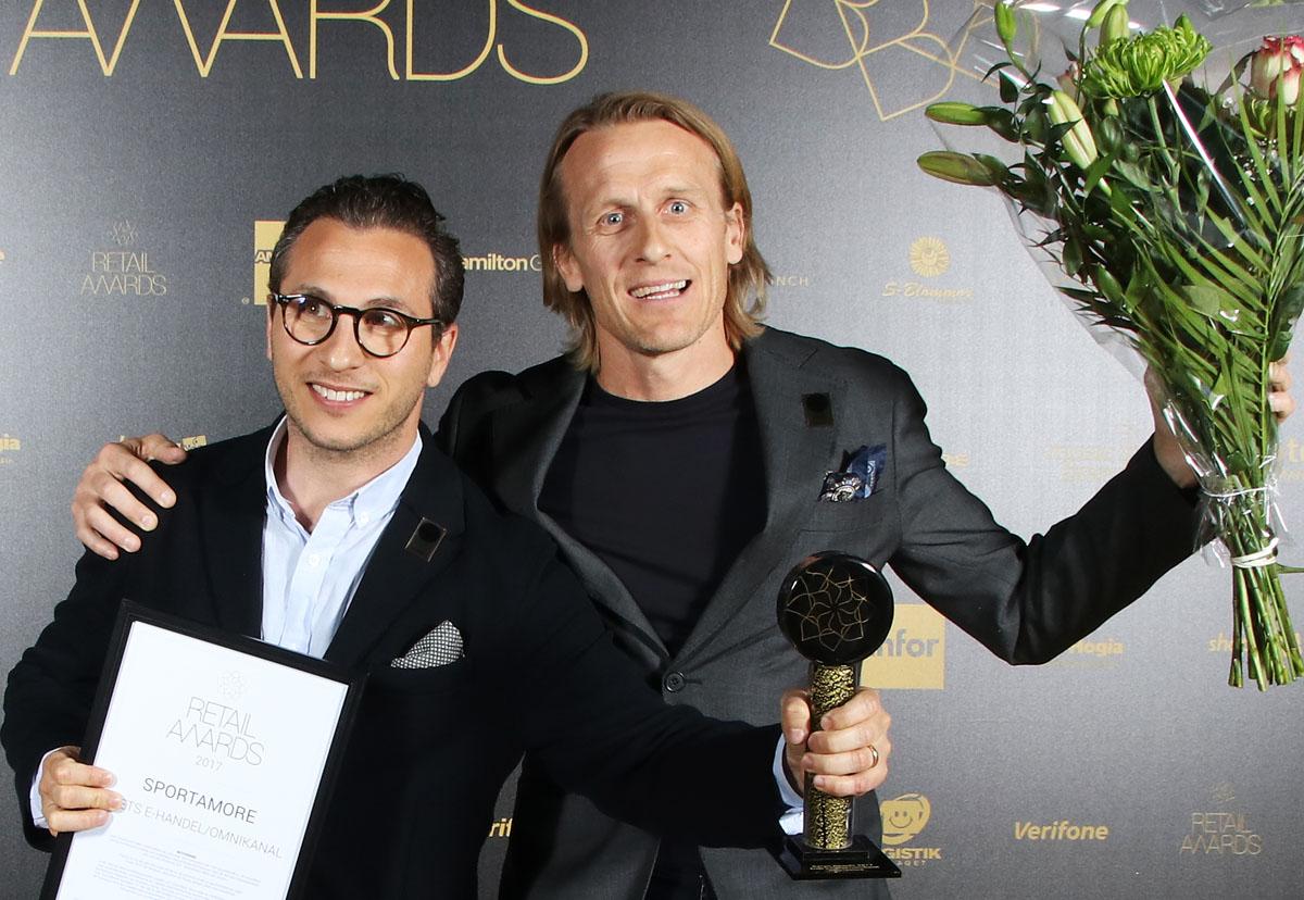 Sportamore fick Årets E-handel på Retail Awards 2017