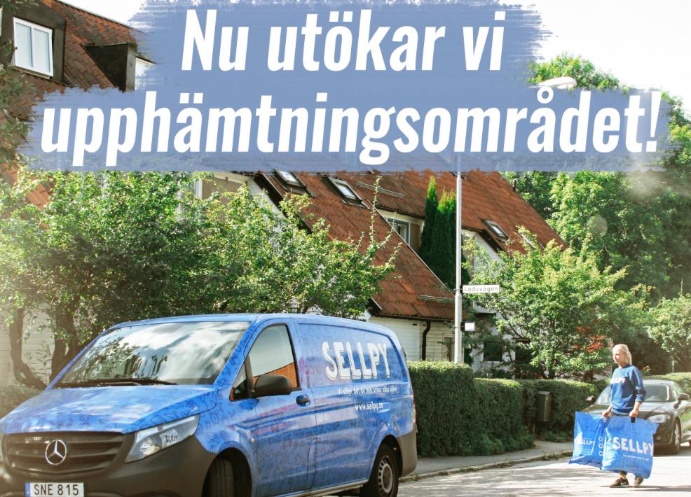 Sellpy börjar hämta i hela Storstockholm