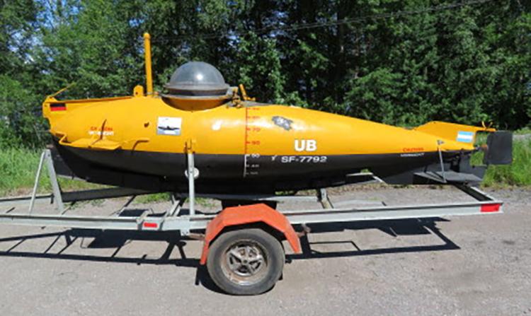 Ubåt från andra världskriget säljs på nätauktion