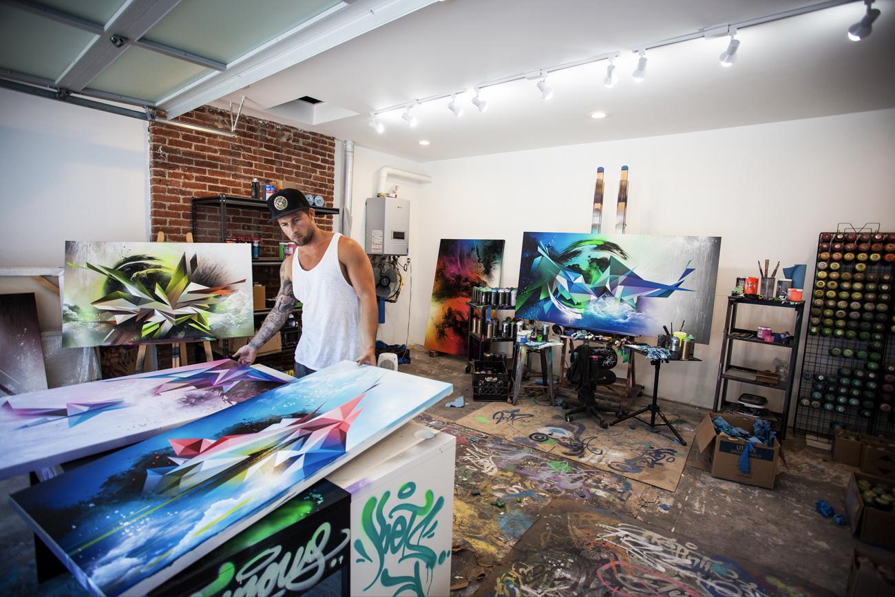 Hans graffitikonst säljs världen över via e-handeln