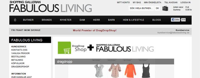 DragDropShop går från demo till verkligheten
