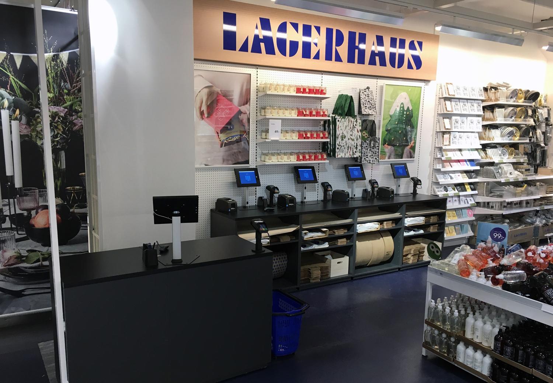 Lagerhaus slopar butikskassan - satsar på Swish och Apple Pay