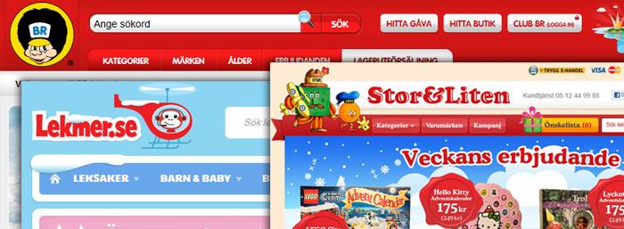 E-handeln med leksaker tar marknadsandelar