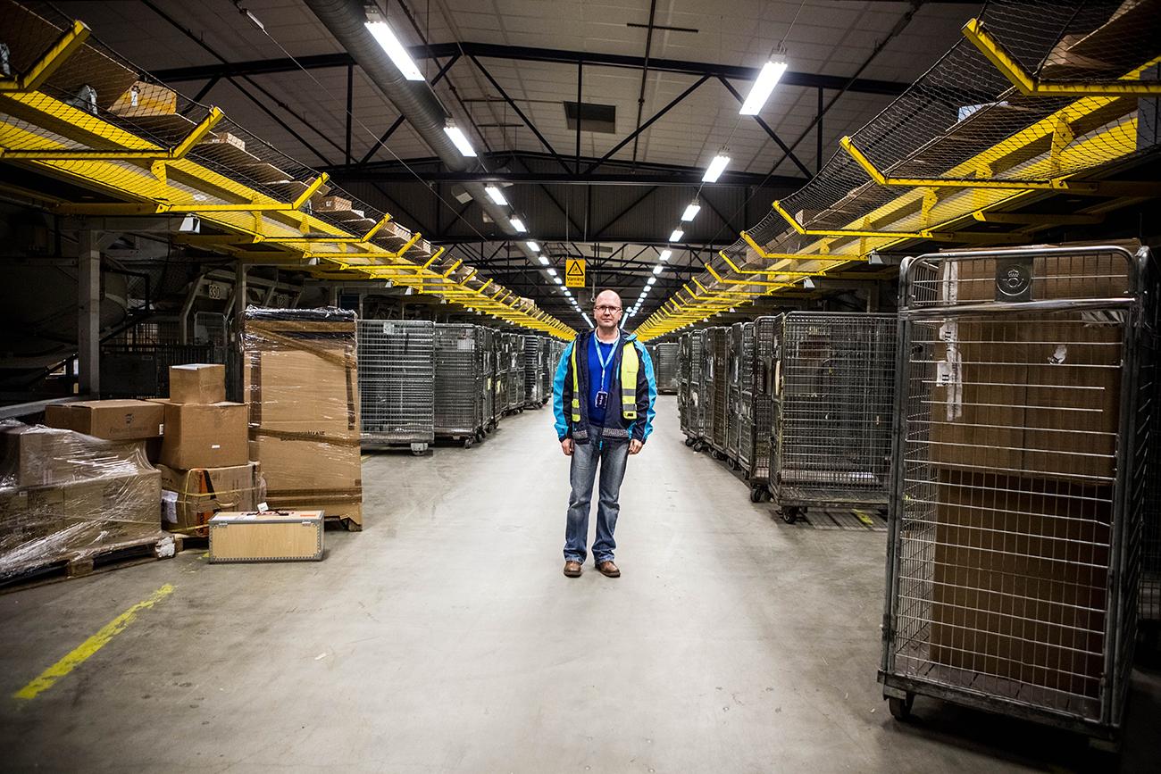 PostNords lager på Toftanäs är Sveriges inkörsport