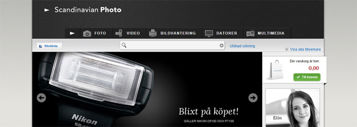 Bättre fokus i Scandinavian Photo:s nya nätbutik
