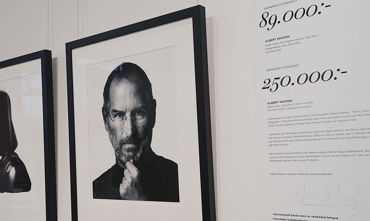 Steve Jobs porträtt för 250 000 i e-handlarens nya butik