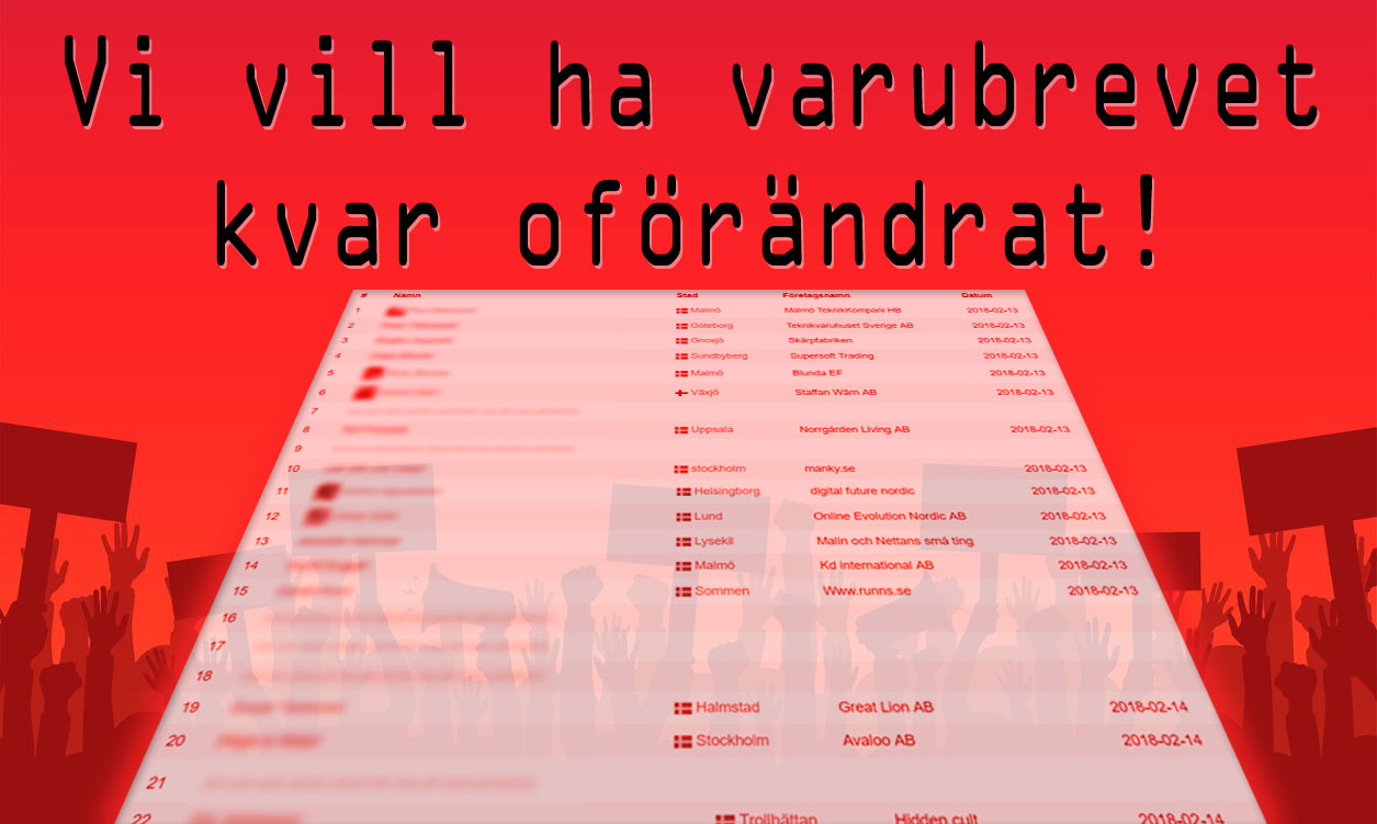 E-handlare i uppror - ska stoppa PostNords nya Varubrev