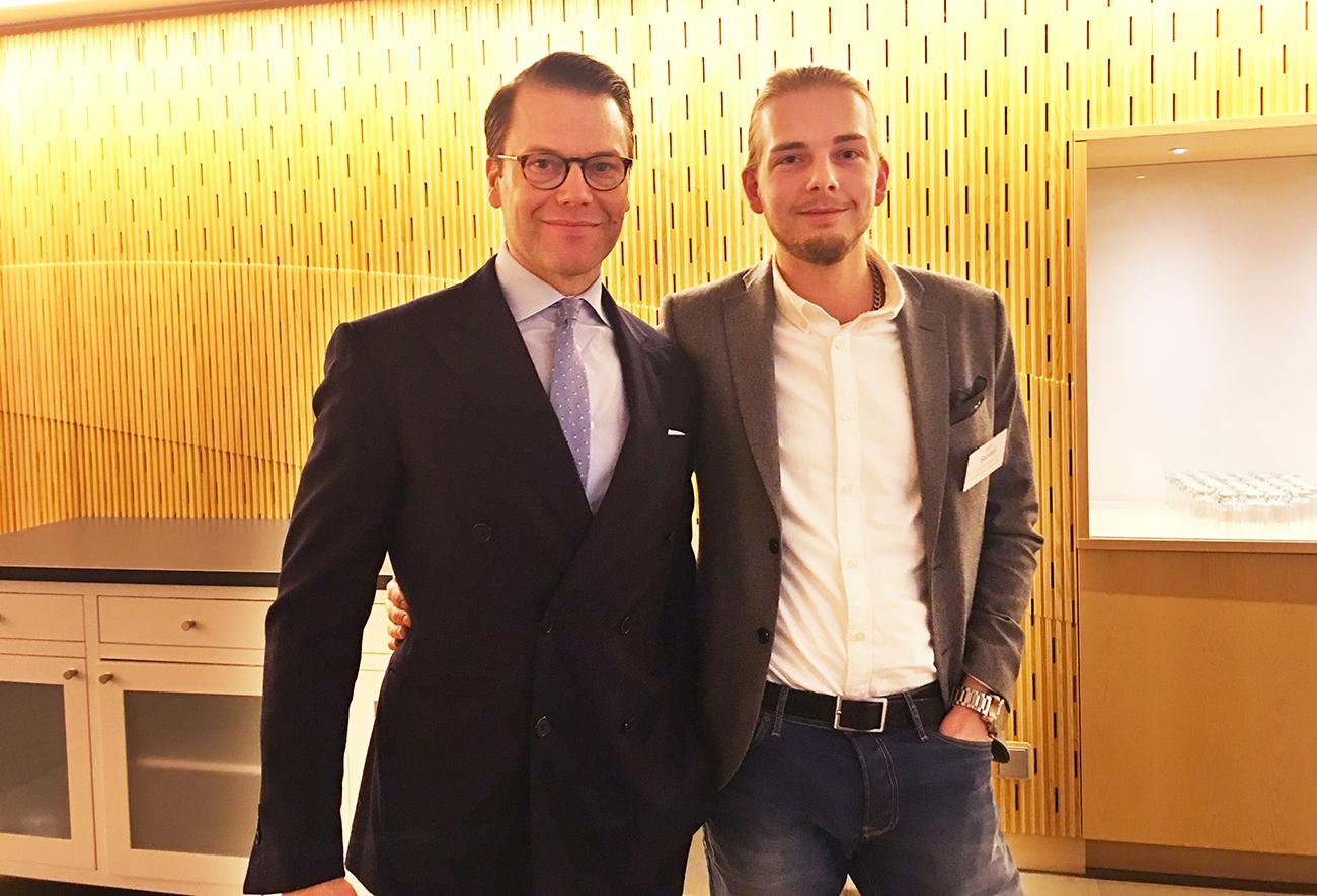 Prisregn över e-handlaren Albin Sandell - fick träffa Prins Daniel
