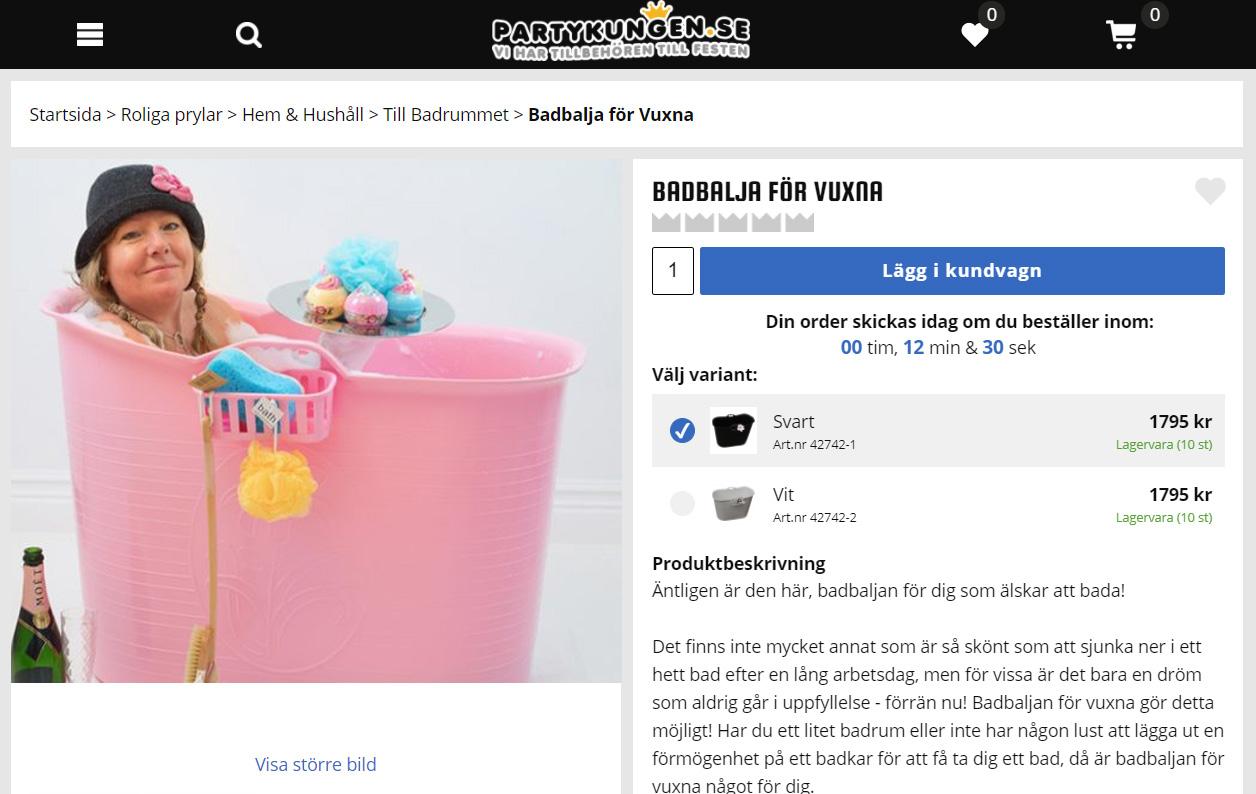 Partykungen blir återförsäljare åt Villbada-Liza