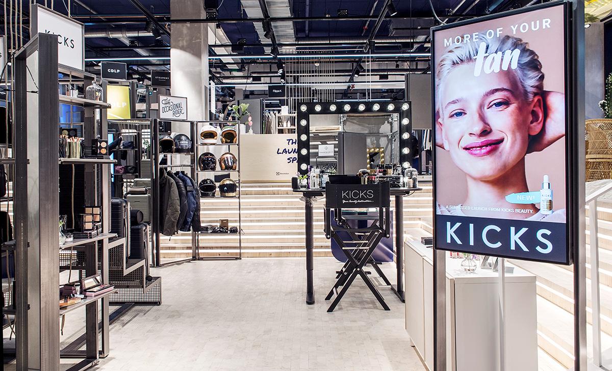 Kicks testar 100 procent digitalt i fysisk butik