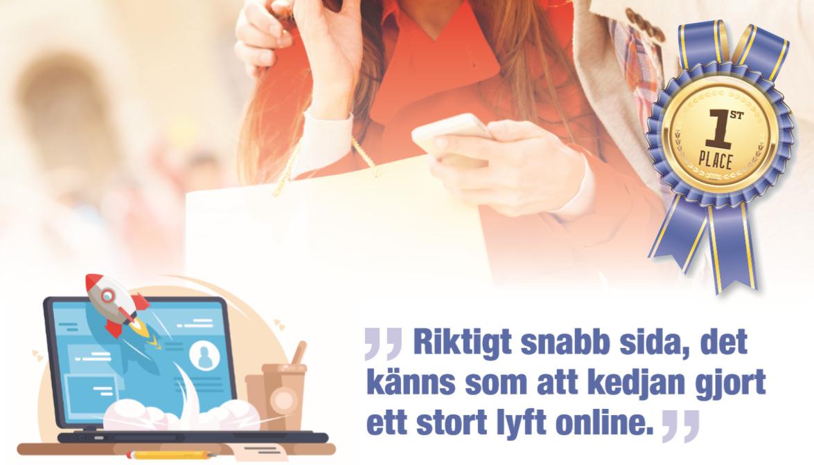 Sveriges Bästa E-handlare 2018 är en butikskedja!