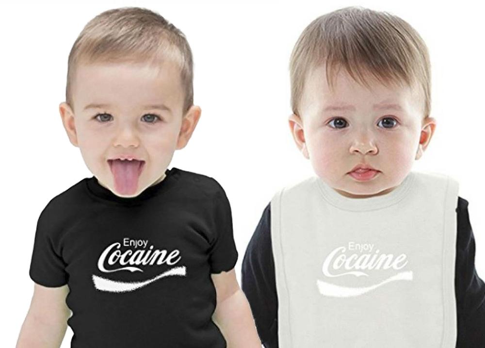 Kokaintröja för bebisar var inte uppskattad av kunderna