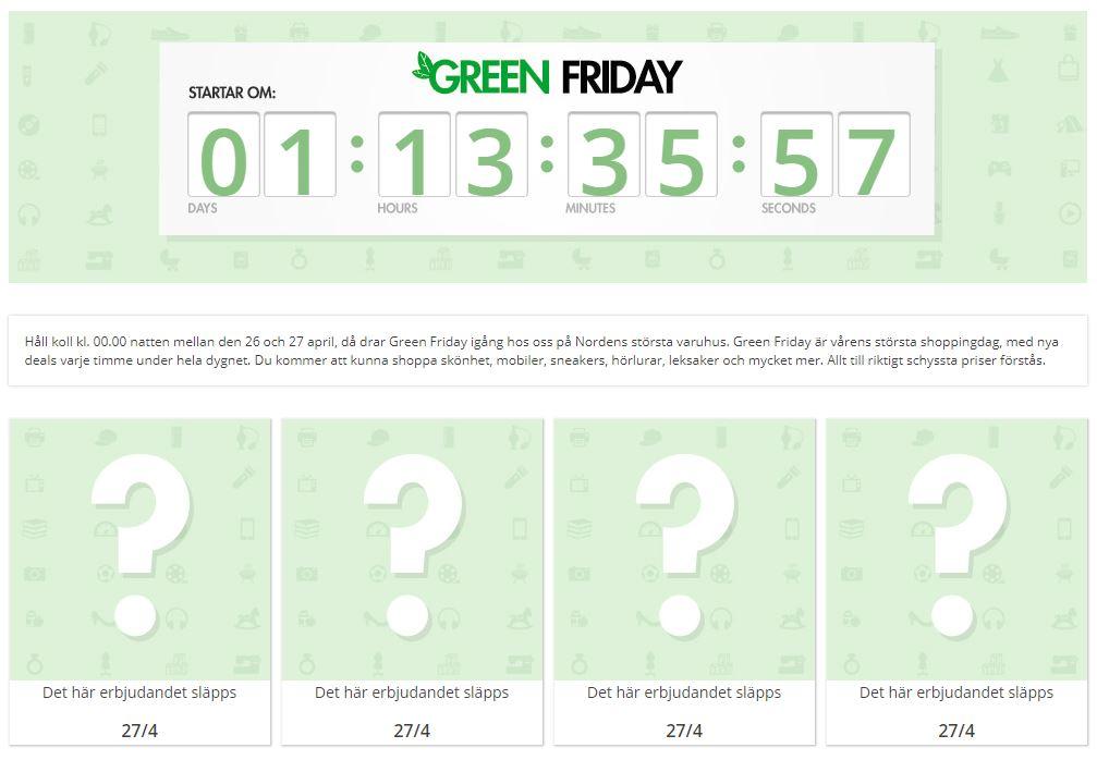 Lönen inne på kontot - då slår CDON till med Green Friday