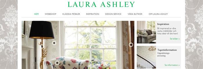 Engelska Laura Ashley får en svensk nätbutik