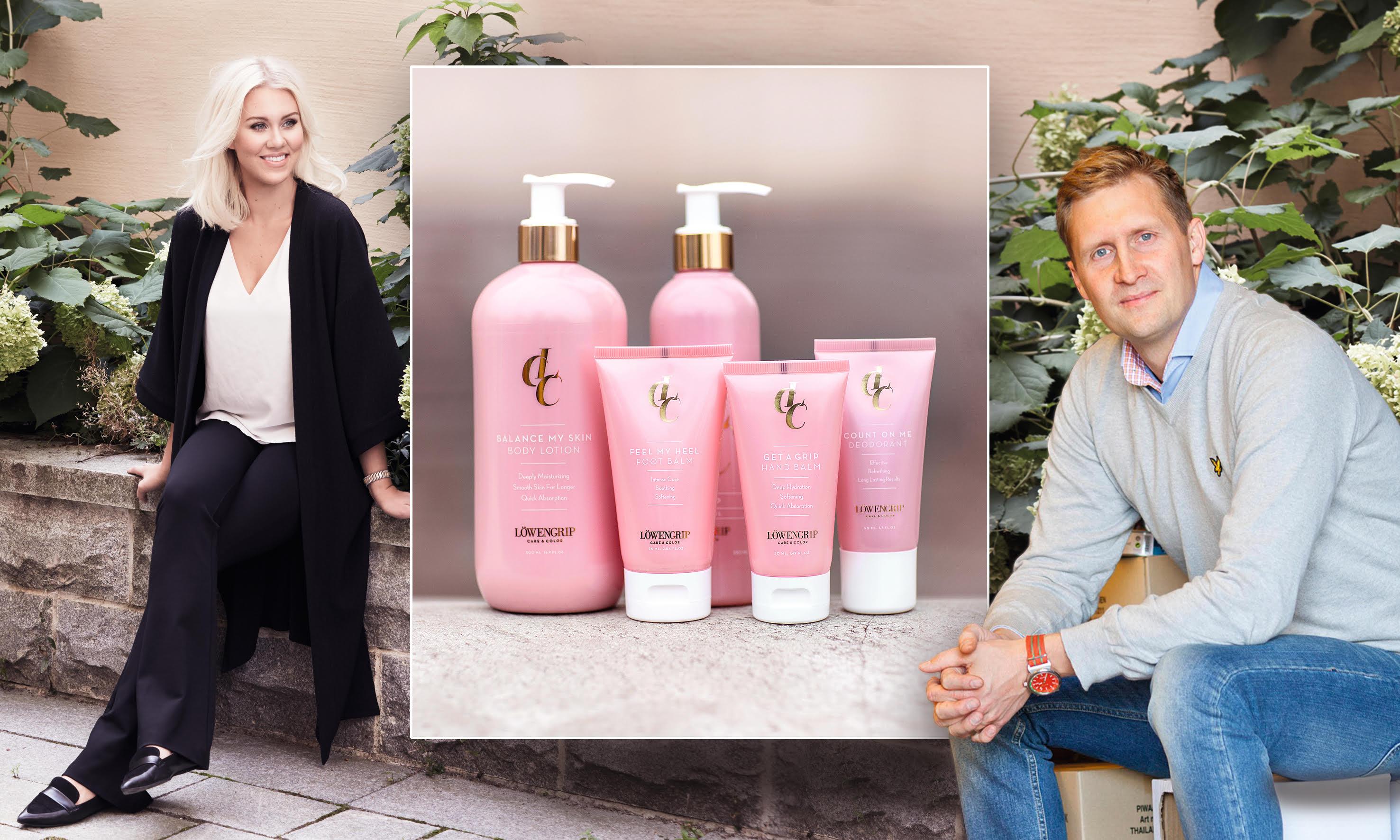 Isabella Löwengrip säljer ut sina produkter hos Matsmart