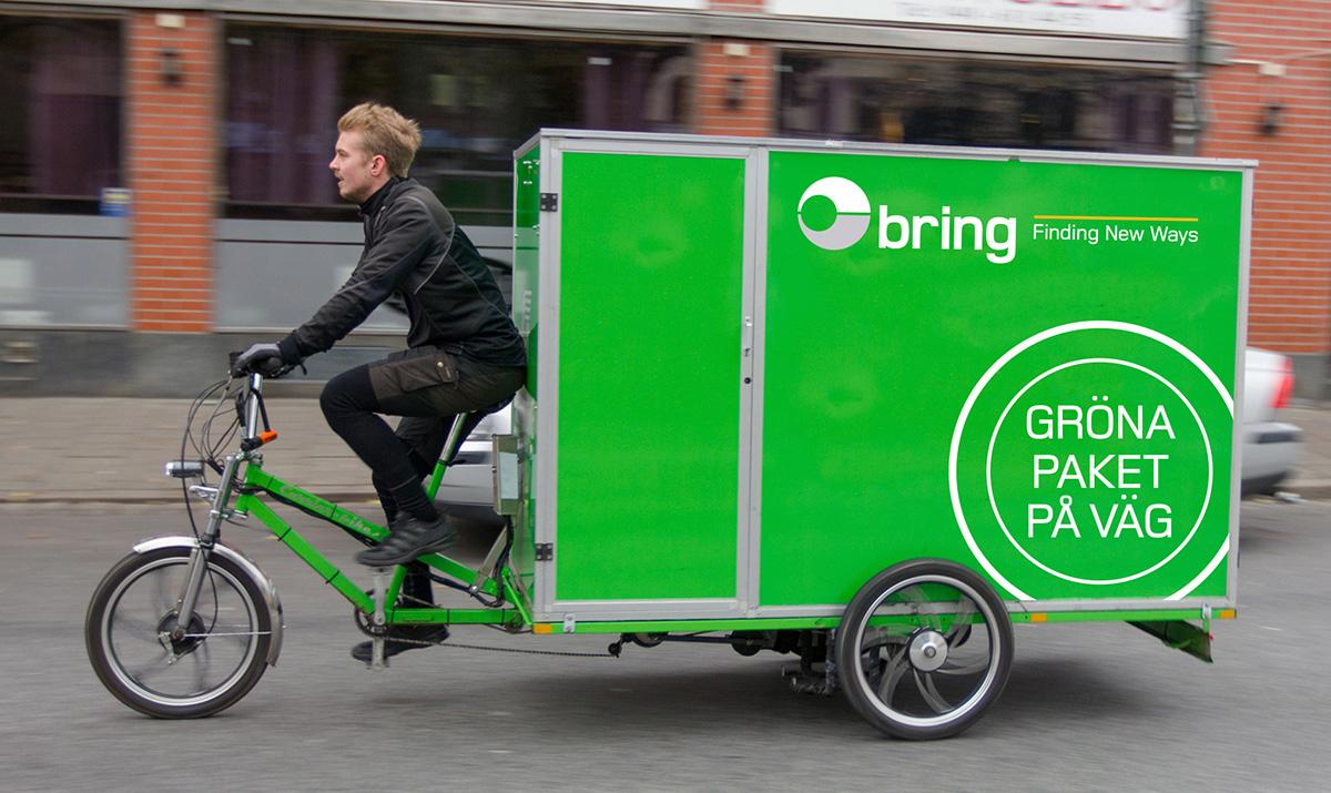 Elbilar och cyklar ska göra den sista milen helt grön