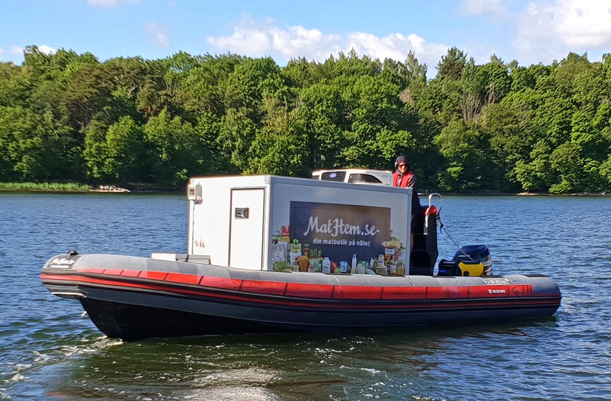 MatHem rapporterar om succé för deras båtleveranser
