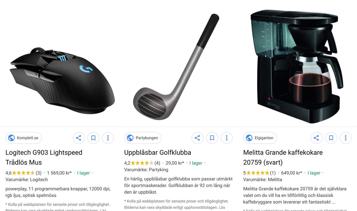 Sökjätten lägger in Google Shopping direkt i bildsöken