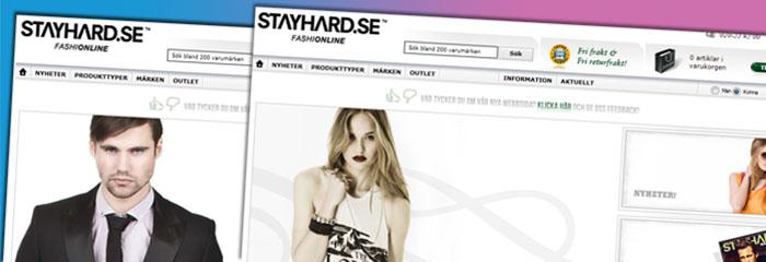 Stayhard byter plattform och gör om sin nätbutik