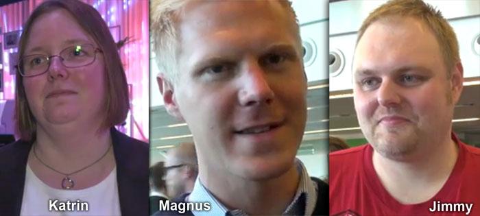 E-handelsprofilerna Katrin, Magnus och Jimmy