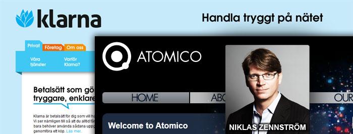 Niklas Zennströms Atomico investerar i Klarna