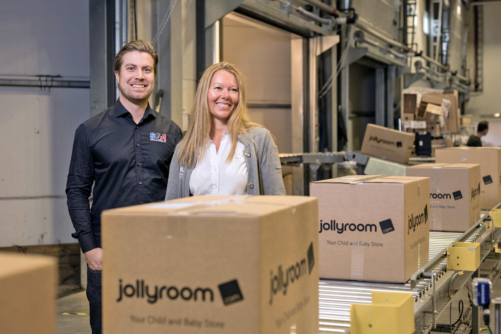 Jollyroom miljoninvesterar i automatiserad paketsortering