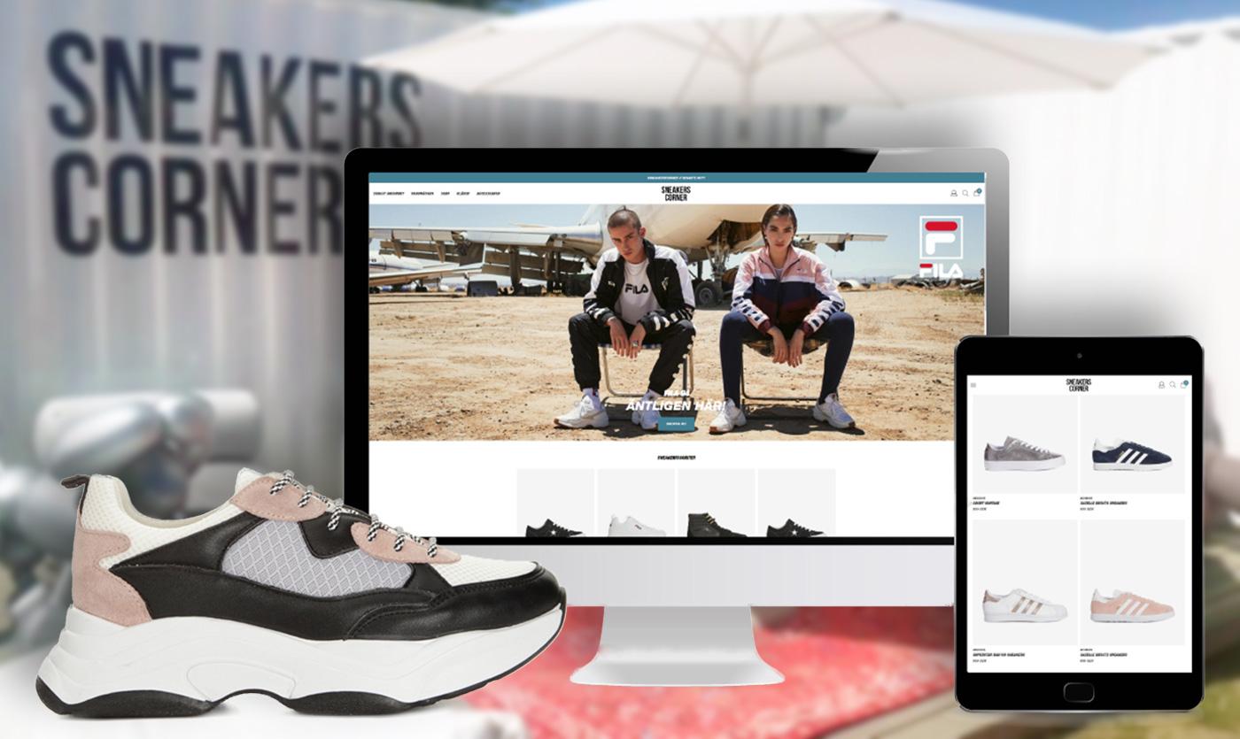Från popup till e-handel - Sneakers Corner går online