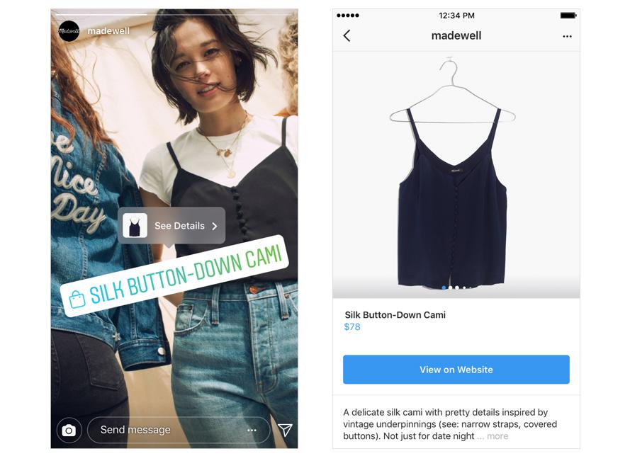 Shopping i Instagram Stories har kommit till Sverige