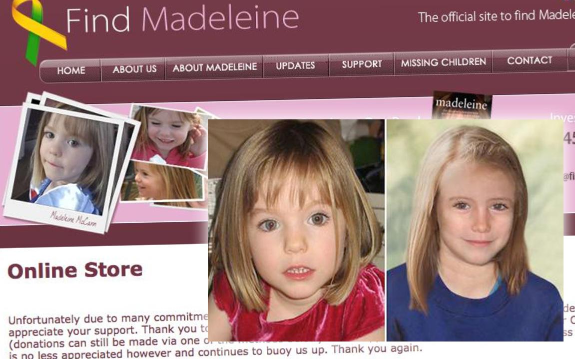 Webbshop tillägnad försvunnen flicka läggs ner