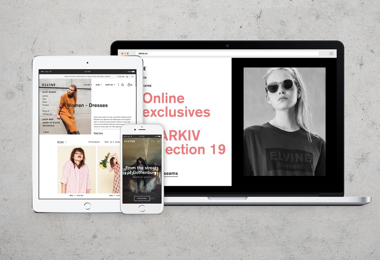 Elvine uppgraderar och får responsiv sajt