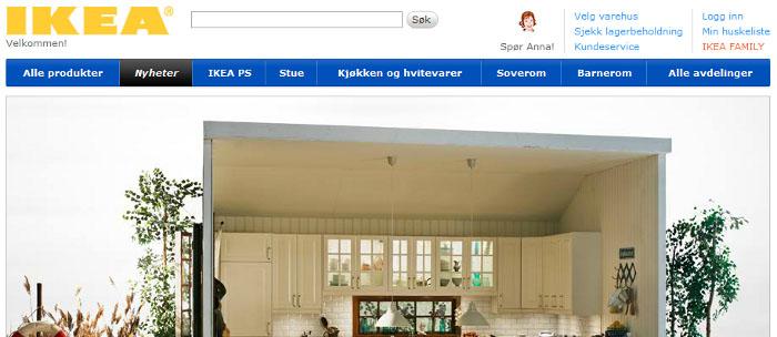 IKEA testar ny Ehandelsplattform i Norge