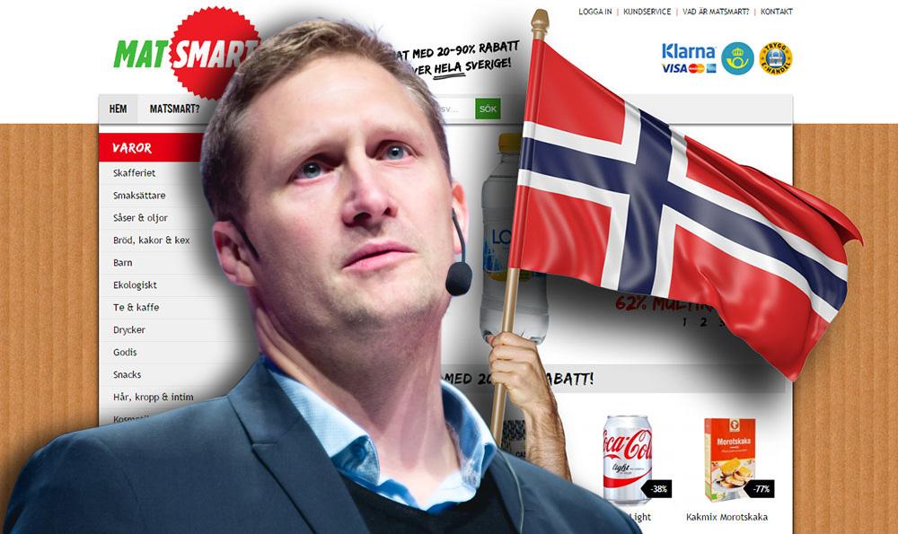 """Matsmart slutar skicka varor till Norge: """"Fick inte lönsamhet"""""""