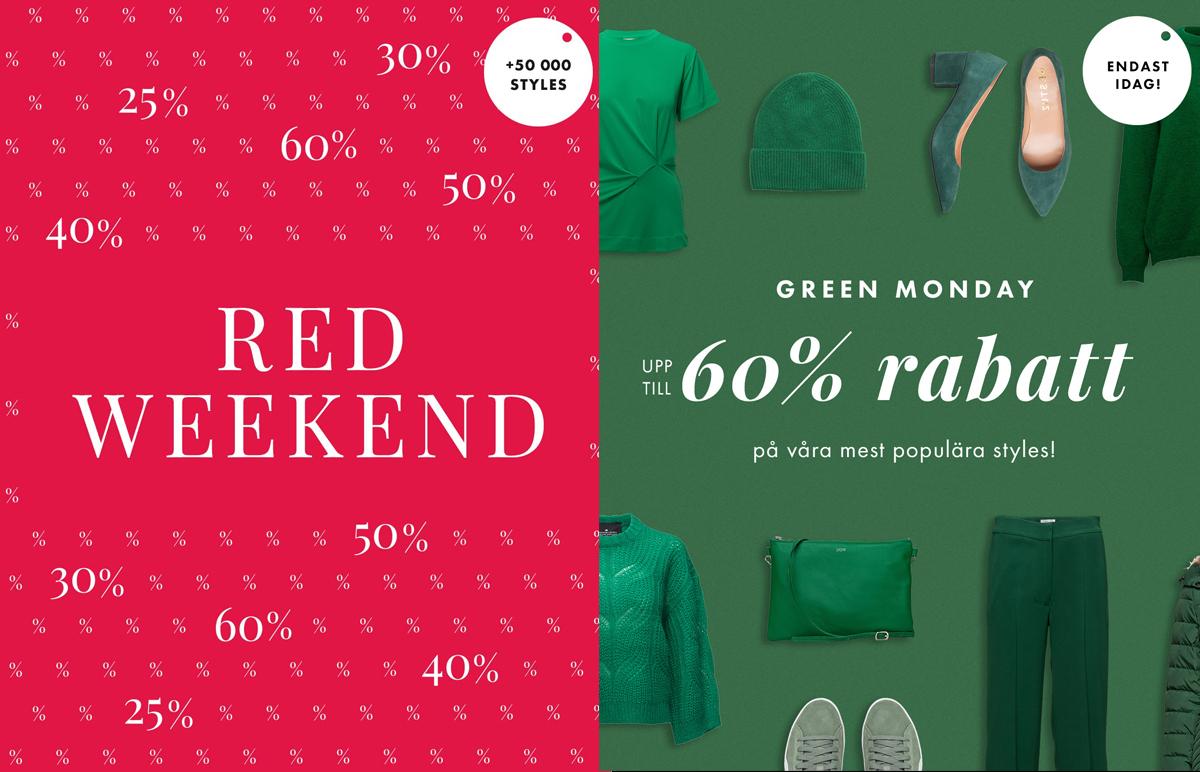 Efter BF: E-handlare kör Red Weekend och Green Monday