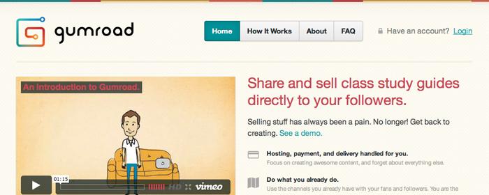 Att sälja ska vara lika enkelt som att dela, via Gumroad