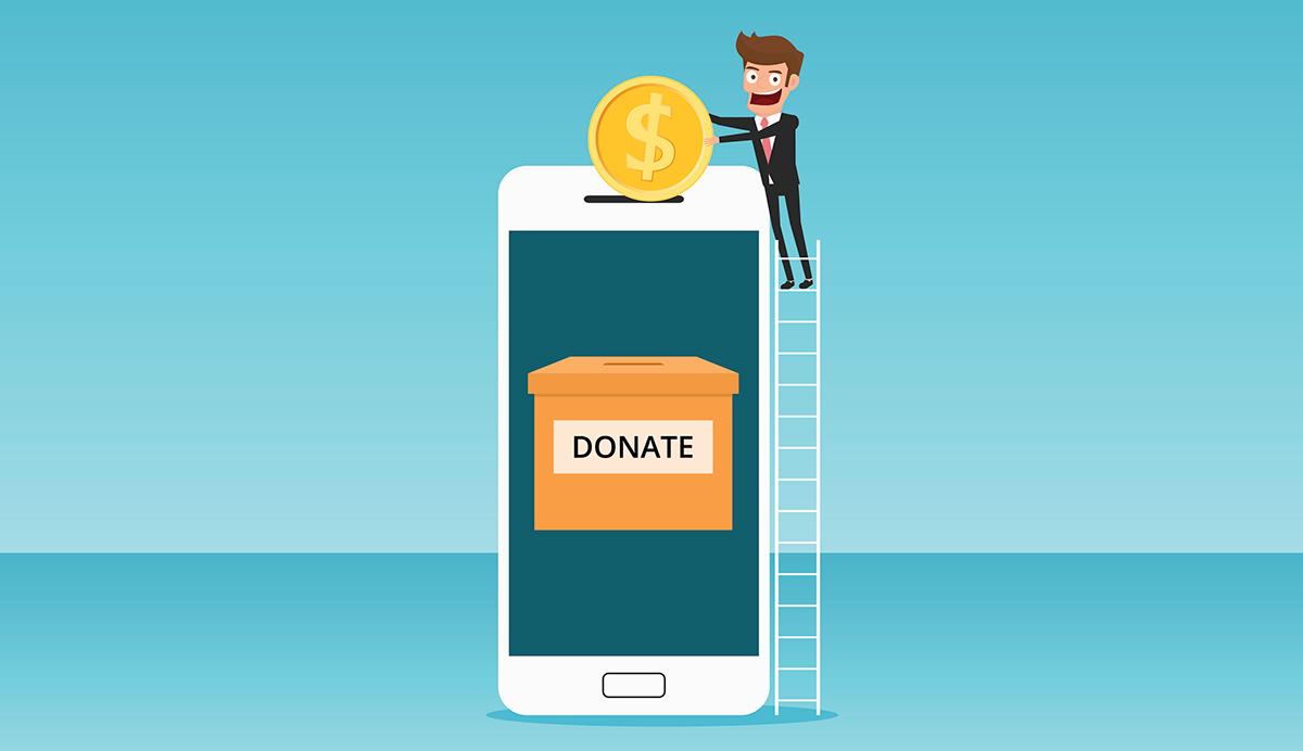 Välgörenheten goes e-handel - Swish spiken i kistan för bössan