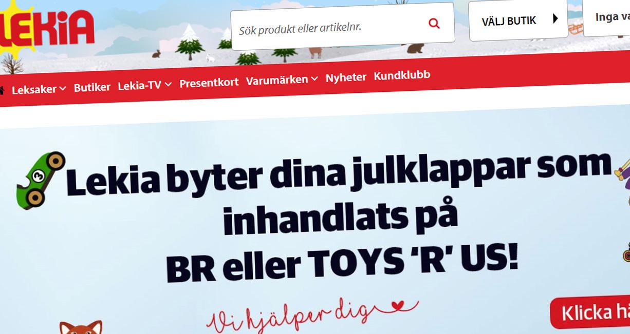 """Lekia fyller hålet efter Toys R Us: """"Ingen glädje i det som skett"""""""