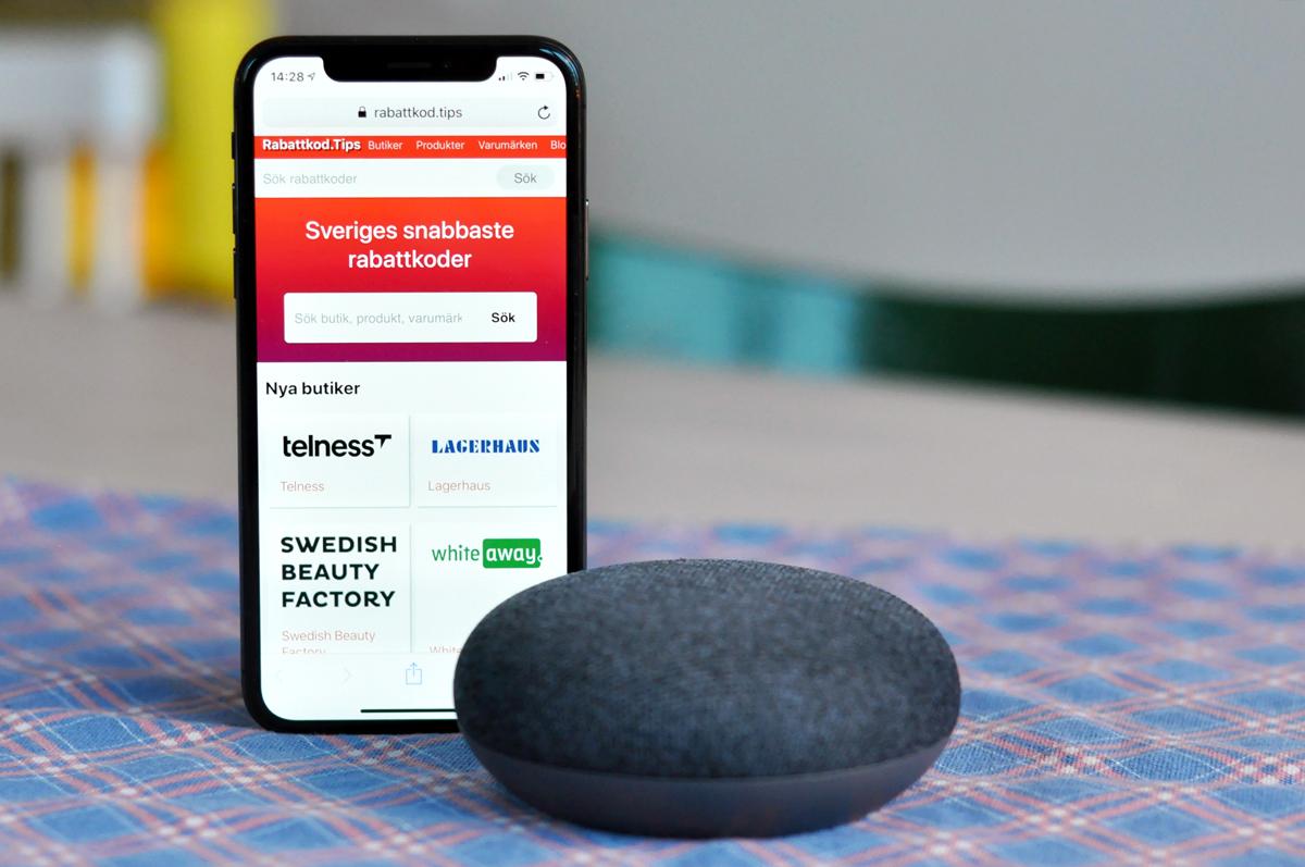 Sajt tar hjälp av Google Home för att ge rabatt i e-handeln