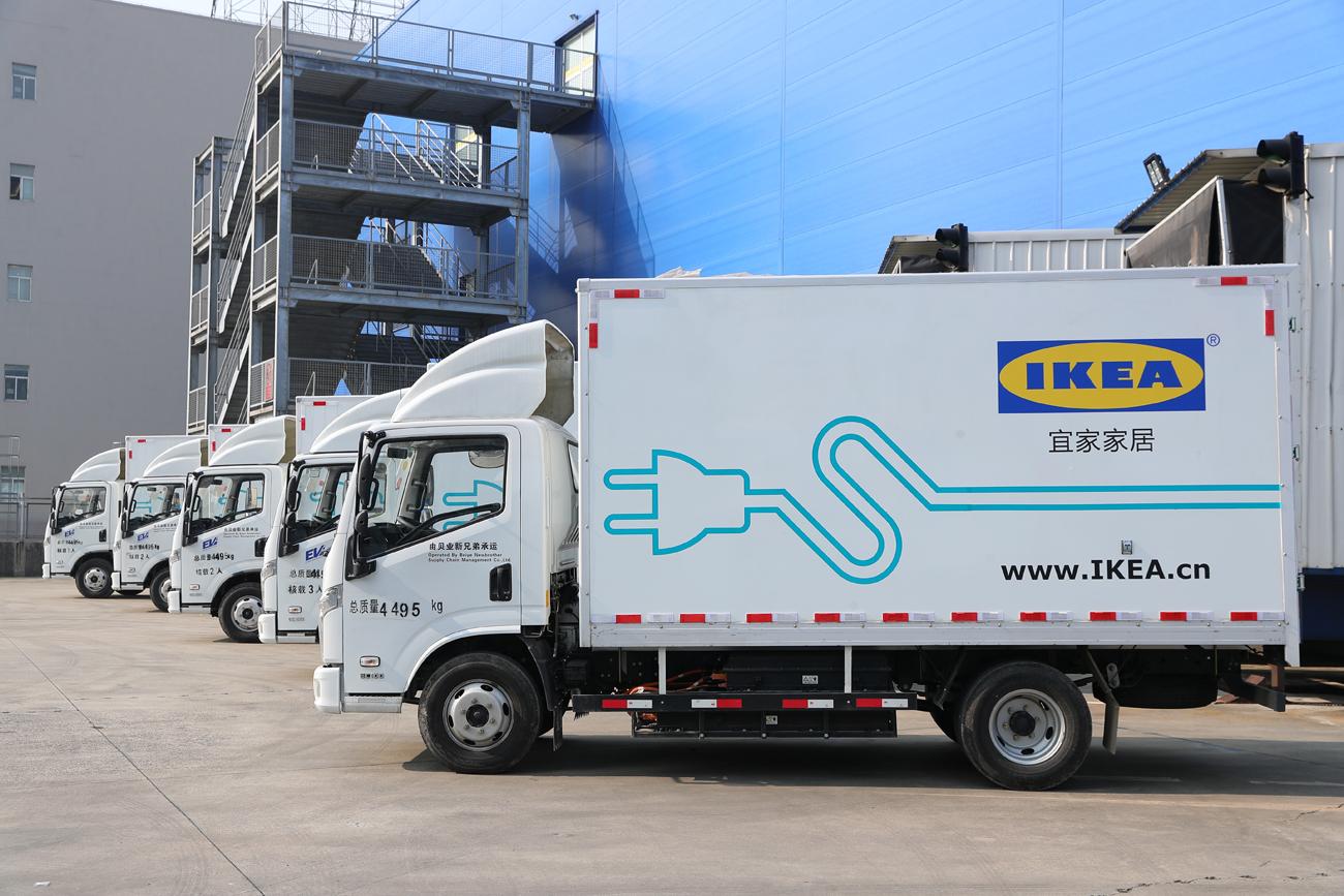 IKEA:s hemleveranser - där nollutsläpp händer