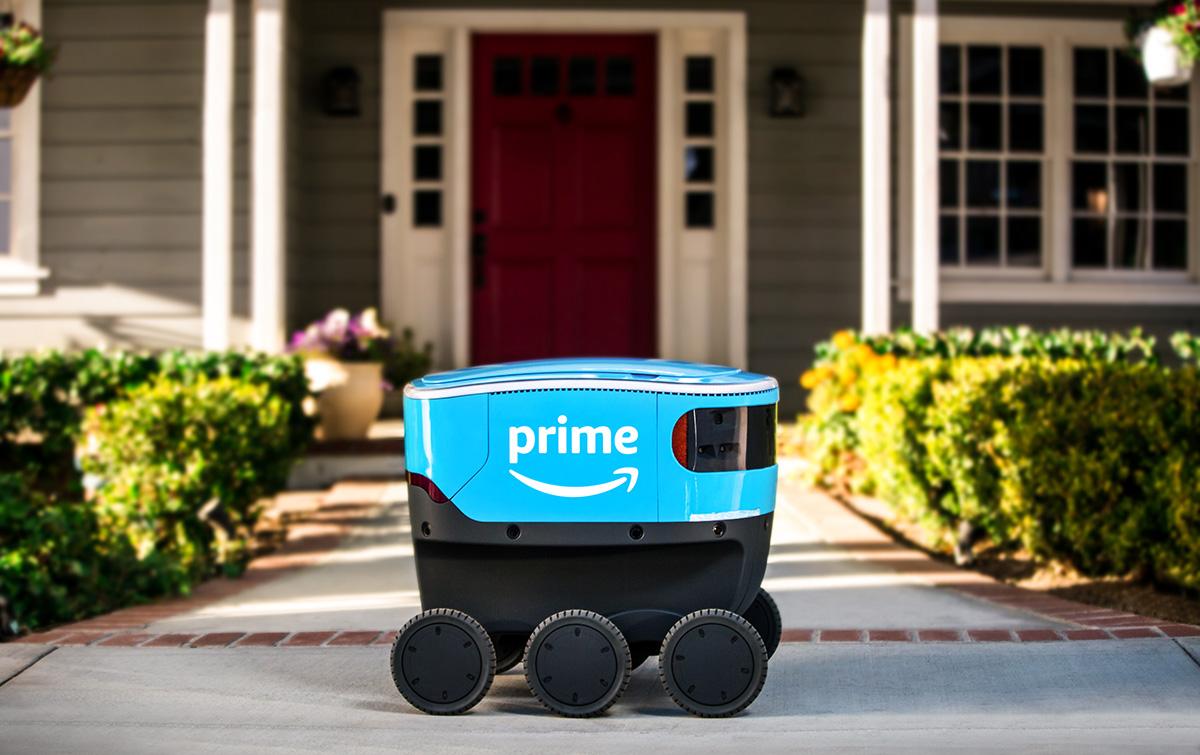 Amazon har börjat leverera med självgående robotar