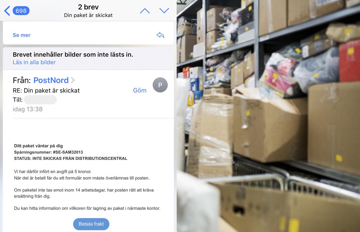 PostNord i ny härva - uppges vara avsändare i falskt mejl