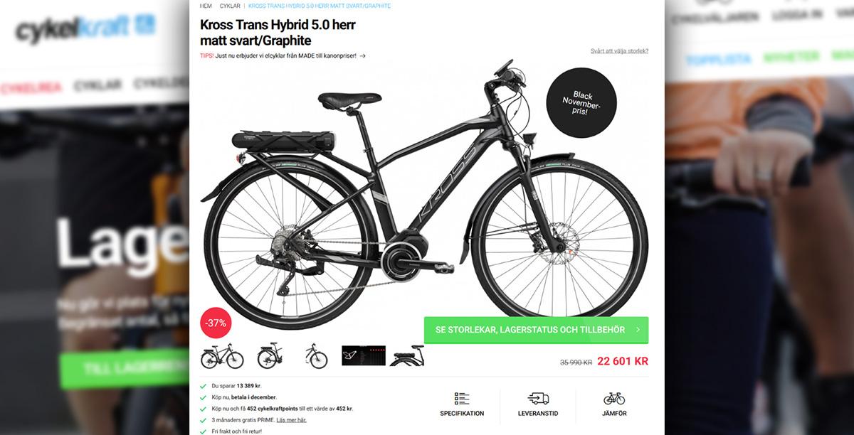 Cykelkrafts rek.pris försvann - fälls för vilseledande reklam