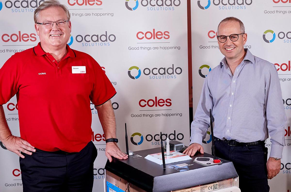 Ocados e-handelsrobotar köps in av ännu en livsmedelsjätte
