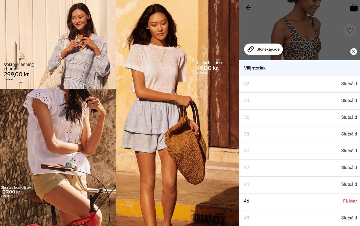 Slutsålt i nästan alla storlekar - här är H&M:s strategi