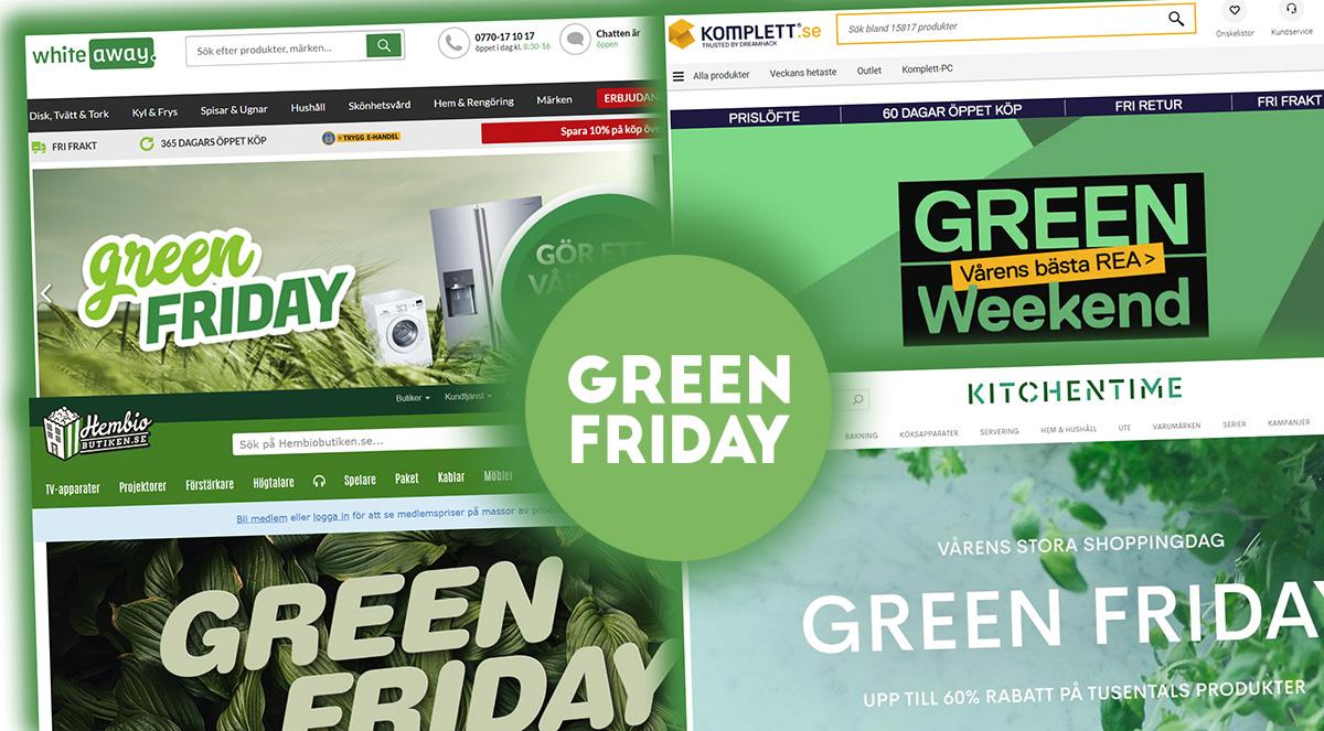 CDON:s Green Friday plockas upp av flera stora e-handlare