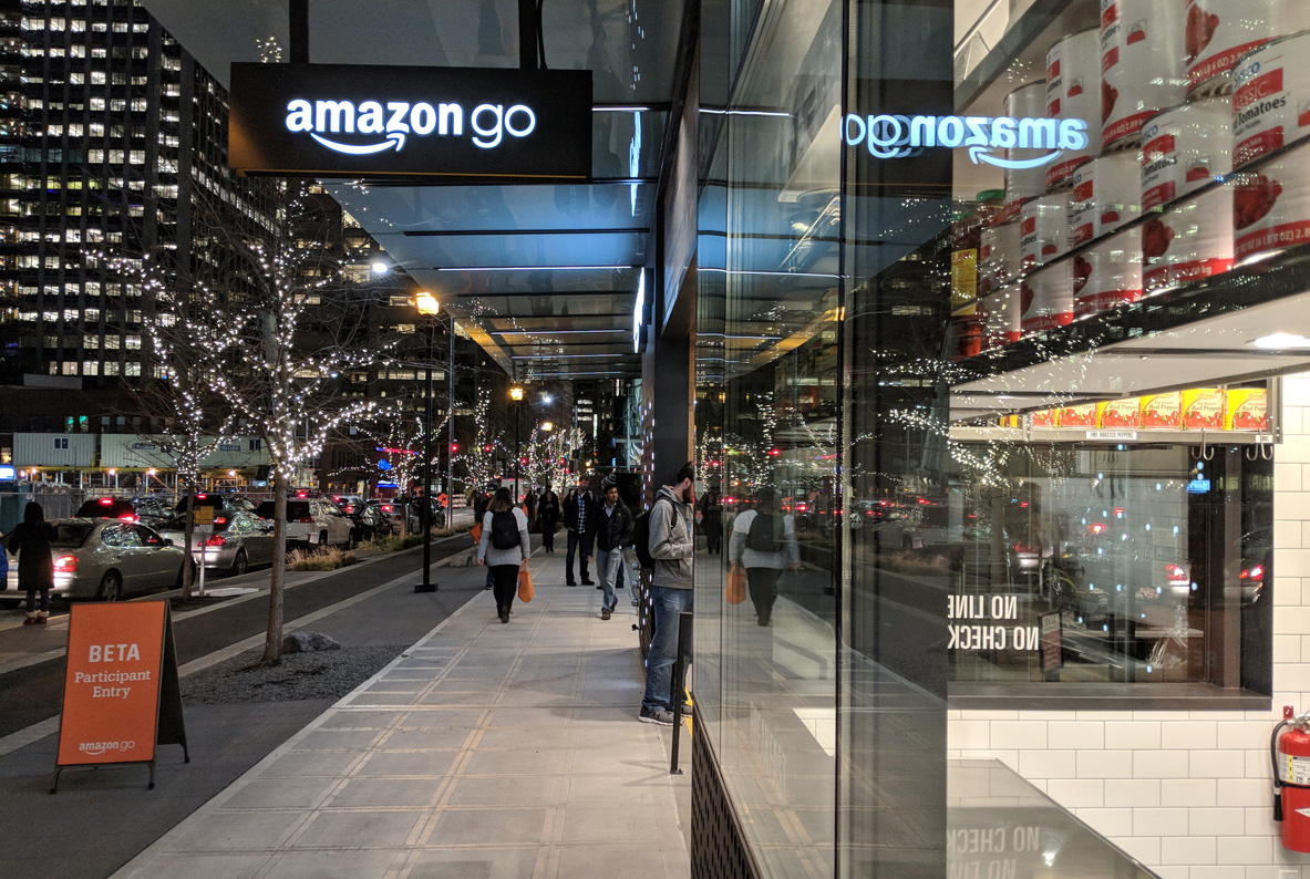 Amazons nya kassalösa butik har en kassa