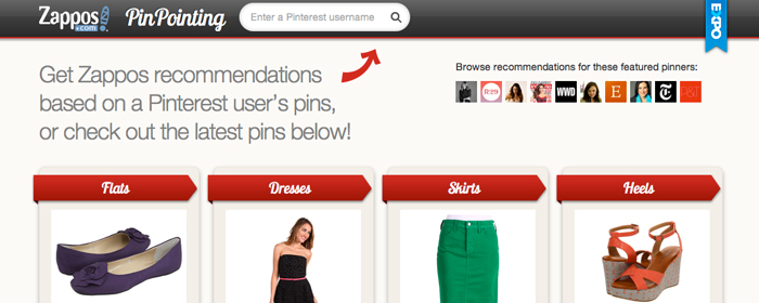 Zappos nya sajt kombinerar Pinterest med E-handel