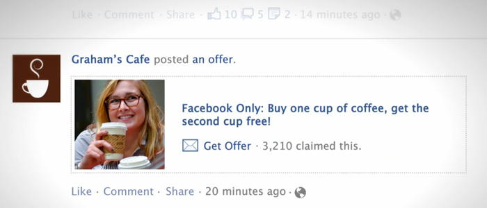 Alla företag erbjuds nu Facebook Offers