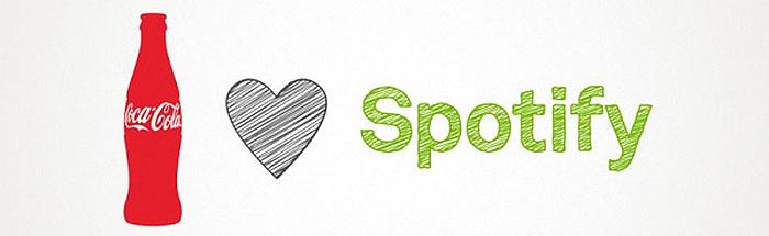 Läskedrycksjätten vill köpa in sig i Spotify