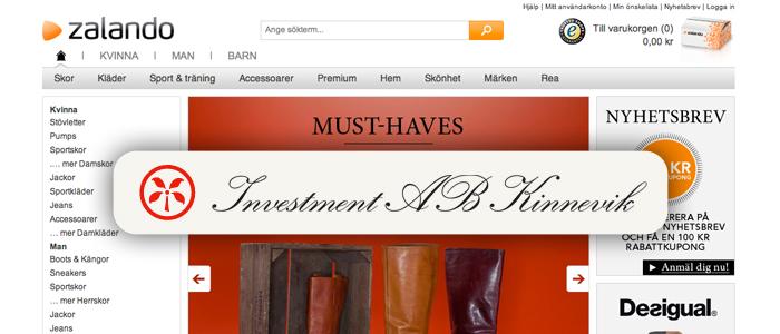Kinnevik är nu modesajten Zalandos största ägare